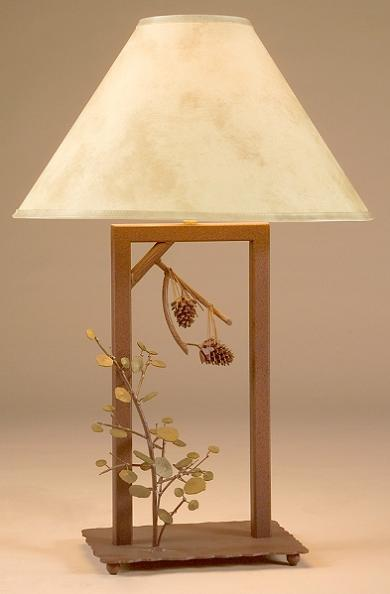 Forest 3D Pinecones and Aspen Table Lamp