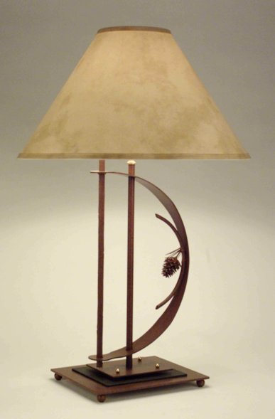 Transitional 3D Pinecone Table Lamp