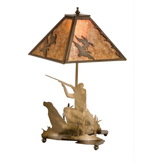 Duck and Hunter Table Lamp