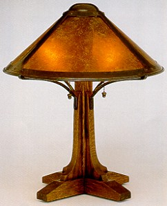 Mica Small Bungalow Table Lamp