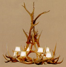 Elk 8-Lamp Antler Chandelier - Large