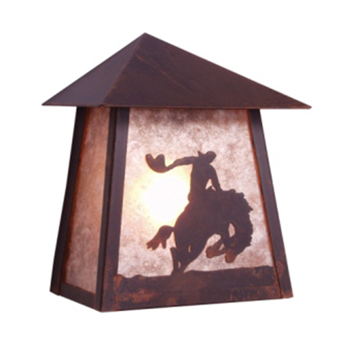 8 Seconds Tri Roof Sconce - Wet
