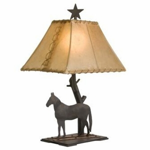 Copper Trails Horse Table Lamp