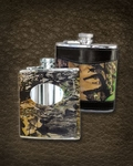 Mossy Oak Leather Hip Flask