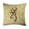 Browning Buckmark Tan Logo Pillow
