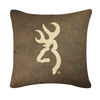 Browning Buckmark Brown Logo Pillow