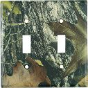 Mossy Oak Camouflage Light Switch Cover - Double