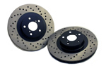 StopTech Cross Drilled Rear Rotors(Non Sport) - 09+ Nissan 370z