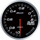 DEFI DF10101 60mm Manifold Pressure White Defi Advance BF Gauge