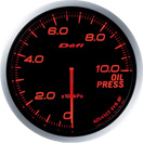 DEFI DF10202 60mm Oil Pressure Amber Defi Advance BF Gauge