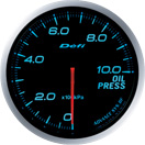 DEFI DF10203 60mm Oil Pressure Blue Defi Advance BF Gauge