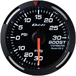 Defi 52mm White Racer Boost Gauge
