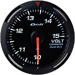 Defi 52mm White Racer Voltage Gauge