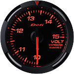 Defi 52mm Red Racer Voltage Gauge