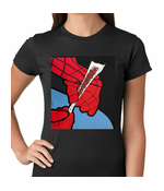 Cartoon Spider Hands Rolling Up Women's T-shirt