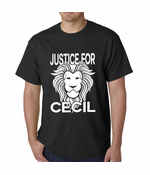 Justice For Cecil The Lion Men's T-shirt