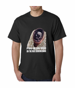Pug In An Ugg On a Rug Looking Snug Men's T-shirt