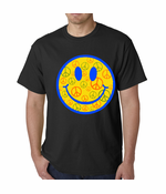 Smiley Face Peace Signs All Over Men's T-Shirt
