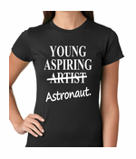 Young Aspiring Astronaut (Artist Crossed Out) Women's T-shirt