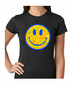Smiley Face Peace Signs All Over Women's T-Shirt