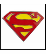 Classic Superman Belt Buckle With FREE Leather Belt