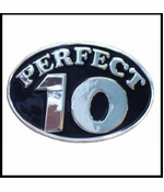 Perfect 10 Belt Buckle With FREE Leather Belt