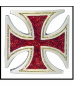 Glitter Iron Cross Buckle With FREE Leather Belt