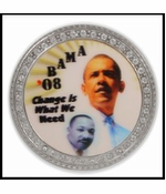 Barack Obama Martin Luther King 3D Holographic Belt Buckle With FREE Leather Belt