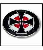 Iron Cross Bullseye Belt Buckle With FREE Leather Belt