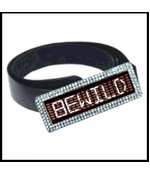 Custom LED Rhinestone Screen Belt Buckle (White)