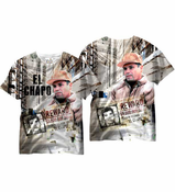 El Chapo All Over Sublimation Print Men's T-shirt