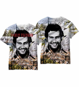 Pablo Escobar All Over Sublimation Print Men's T-shirt