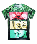 Sublimation Printed Roll It, Lick It, Smoke It All-Over Print Men's T-Shirt