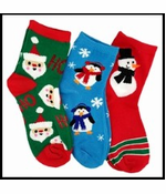 Assorted Holiday and Christmas Socks (3 Pack)