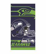 Seattle Seahawks Helmet Beach Towel (30 x 60)