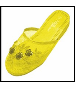 Mesh Chinese Slippers for Weddings (Yellow)