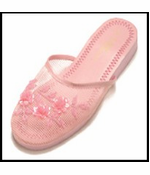 Mesh Chinese Slippers for Weddings (Pink)