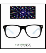 GloFX Diffraction Rainbow Kaleidoscope Sunglasses (Black)