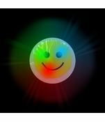 Flashing Light Up Smiley Face Sticker (12 Pack)