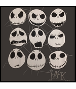 Nightmare Before Christmas Faces of Jack T-shirt
