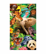 Welcome To The Jungle Velour Beach Towel