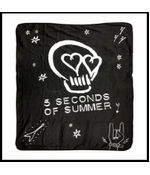 Official 5 Seconds of Summer Skull Logo Fleece Blanket