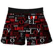 I Love You Valentines Day Boxer Shorts (Black)