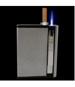 Auto Loading Cigarette Case With Built in Torch Lighter King Size
