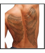 Full Back Temporary Tattoo - Wings