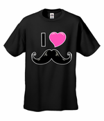 I Love Mustache Men's T-Shirt