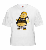 "Hillarious Novelty T-Shirts - ""Fat Kids Are Hard To Kidnap"" Tee"
