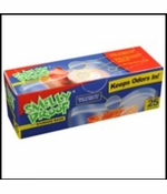 """Smell Proof Bags - Box of 25 Medium 6 1/2"""" x 7 1/2"""" Clear Bags"""