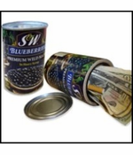 S&W Blueberries In Heavy Syrup Diversion Can Safe
