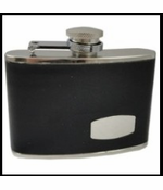 4 oz. Engravable Leather Wrapped Hip Flask